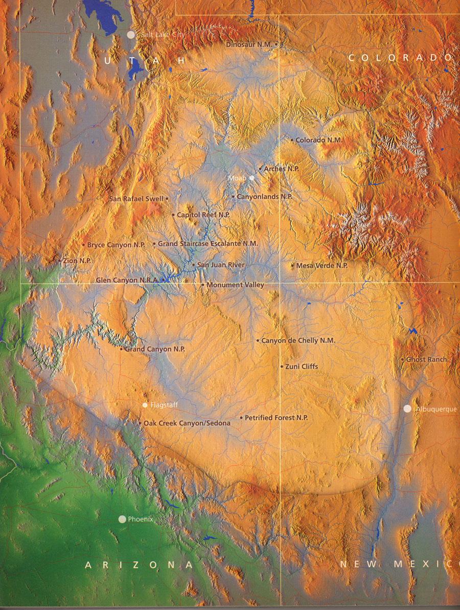 Geology Trip March - Map of colorado plateau region