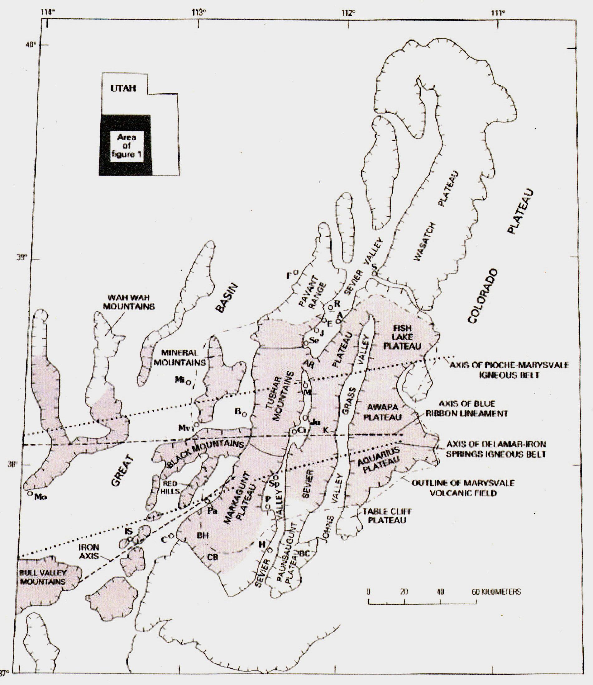 BoulderMtnBoulderTown - Map of colorado plateau region